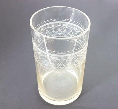 Glas Becher, handgraviert, Schlesien, um 1870 - 1890 AL207 11