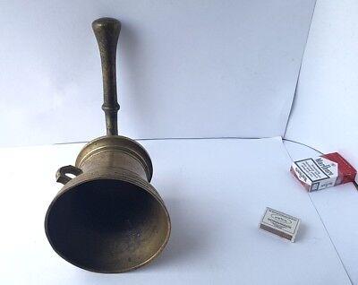 Antiker Bronze Mörser mit Pistill/ Stößel, um 1700 AL717 10