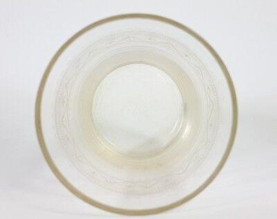 Glas Becher, handgraviert, Schlesien, um 1870 - 1890 AL207 8