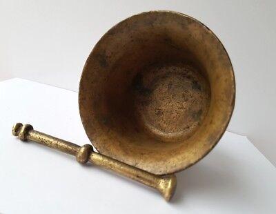 Sehr seltener Mörser mit Pistill Bronze um 1800 AL1147 11