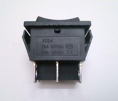 Interruptor Basculante Bipolar - Con 3 Posiciones - I 0 II - 16A - 250V - Negro 2