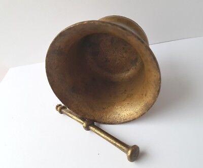 Sehr seltener Mörser mit Pistill Bronze um 1800 AL1147 7