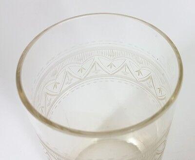 Glas Becher, handgraviert, Schlesien, um 1870 - 1890 AL207 6