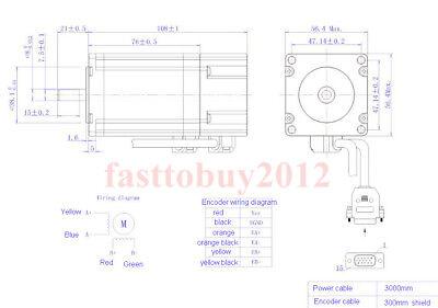 2.2NM DSP Closed Loop Stepper Motor Nema23 Driver 1.8° for CNC Engraving Machine 2