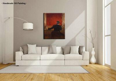 Handpainted Modern cigar bar Men Oil Painting Canvas Abstract Pop Art Wall Decor 3