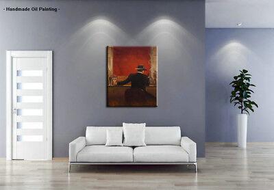 Handpainted Modern cigar bar Men Oil Painting Canvas Abstract Pop Art Wall Decor 4