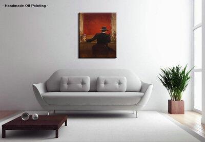 Handpainted Modern cigar bar Men Oil Painting Canvas Abstract Pop Art Wall Decor 5