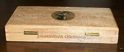 OLD SORTE MAND No4 OSLO NORWAY TOBACCO CIGAR WOOD BOX PURSE CRAFT GIFT BLACK MAN 3