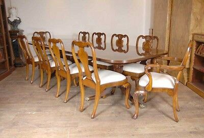 10 English Queen Anne Walnut Dining Chairs Ann Chair 3