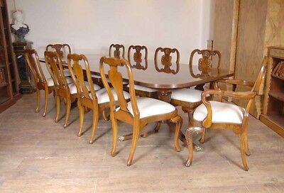 10 English Queen Anne Walnut Dining Chairs Ann Chair 3