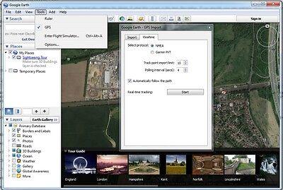 GPS USB DONGLE Receiver Windows 10 8 7 Vista XP CE Linux Google Earth Sat  Nav