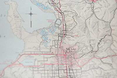 VINTAGE 1963 Utah Official Highway Road Map with Color ...