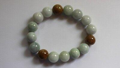 Gemstone 100% Natural JADE (Grade A) Untreated Jadeite Beaded Bracelet 13mm 3