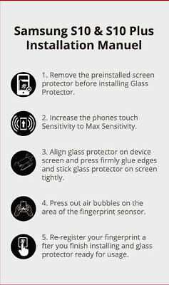 Galaxy S10 S9 S8 Plus e Note 9 8 NUGLAS Tempered Glass Screen Protector Samsung 11