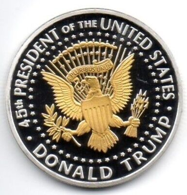 Donald Trump Silver & Gold Dollar City Coin President of the United States Man 4