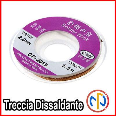 Treccia 2 mm Trecciolla Dissaldante lunga 1,5mt 2