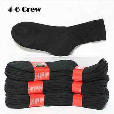 Kids Cotton Socks Lot Crew Ankle Low Cut 2-3 4-6 6-8 Boy's Girl's White Black 9