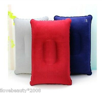 Outdoor Travel Pillows  Inflatable Pillow Cushion Beach Car Plane Bed Sleep 3