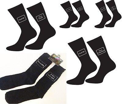 Mens Trust Me I/'M A Team Leader Mens Black Socks UK 5-12
