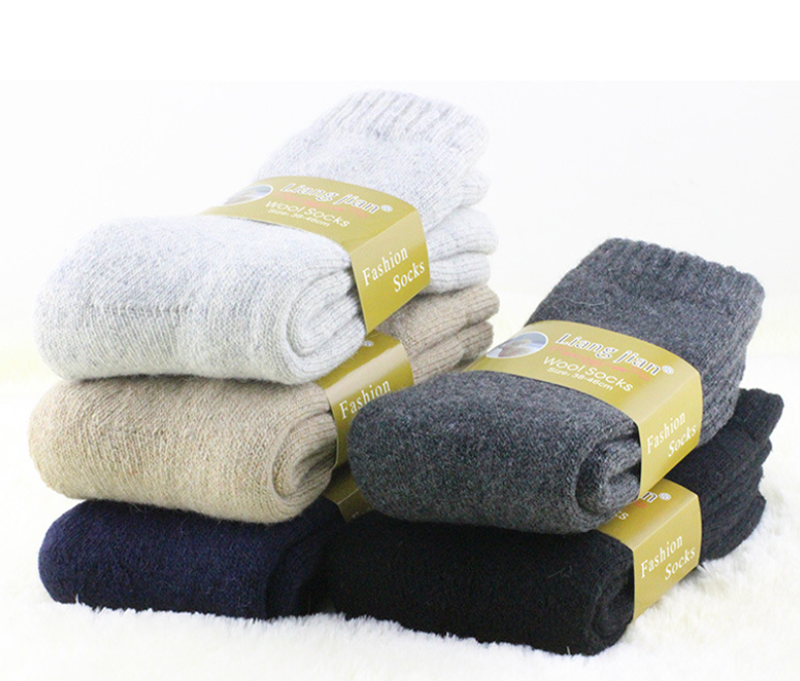 4Pairs Mens Wool Cashmere Warm & Soft Comfort Large Winter Thick Dress Socks 3