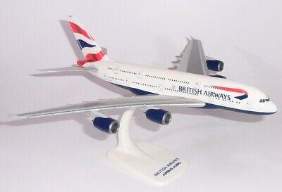 British Airways Airbus A380 Scala 1:250 Aereo Modellino Da Collezione G-XLEA