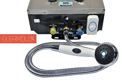 LPG Instant Portable Gas Hot Water Camp Shower Heater 4WD Caravan Horse Dog Wash 3