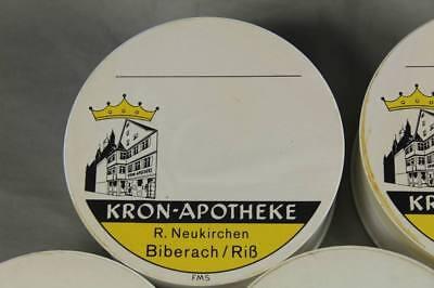 7x Apotheker - Dose Schmuck Schachtel Vintage Pharmacy Box Ø 10,5 cm.  /S272 2