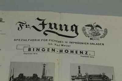 Teileliste Fa.Jung, Bingen / Hohenz. - Spezialfabrik Picherei Anlagen 1950 /S180 8