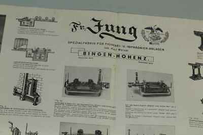Teileliste Fa.Jung, Bingen / Hohenz. - Spezialfabrik Picherei Anlagen 1950 /S180 11