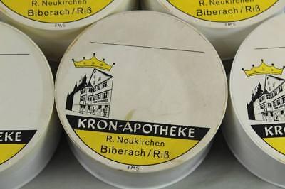 7x Apotheker - Dose Schmuck Schachtel Vintage Pharmacy Box Ø 10,5 cm.  /S272 3