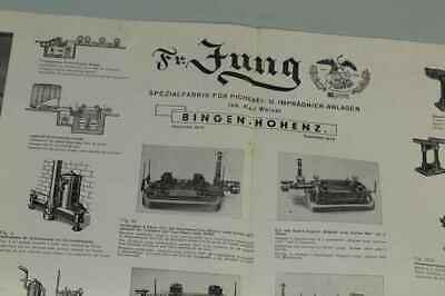 Teileliste Fa.Jung, Bingen / Hohenz. - Spezialfabrik Picherei Anlagen 1950 /S180 3