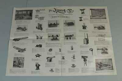 Teileliste Fa.Jung, Bingen / Hohenz. - Spezialfabrik Picherei Anlagen 1950 /S180 12