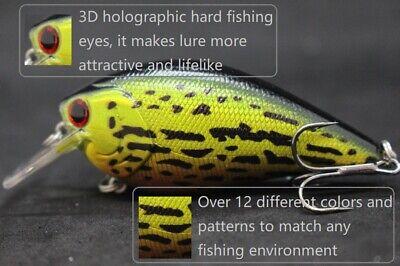 Squarebill Crankbait Fishing Lures 2 3//4 inch 3//8oz Slow Floating Hard Lure C658