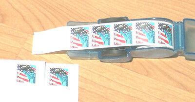 Postage Stamp Dispenser Applicator Affixer Coil Roll Of