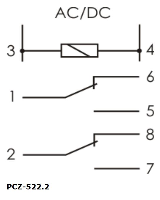 F&F Pcz-522.3 Programmierbare Digitale Zeitschaltuhr 24V ÷ 264V Ac/Dc 2× 16A 7