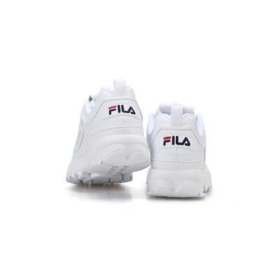 2019 New FILADisruptor II 2 White Shoes Unisex Size UK 3-9 Free Shipping gift 9