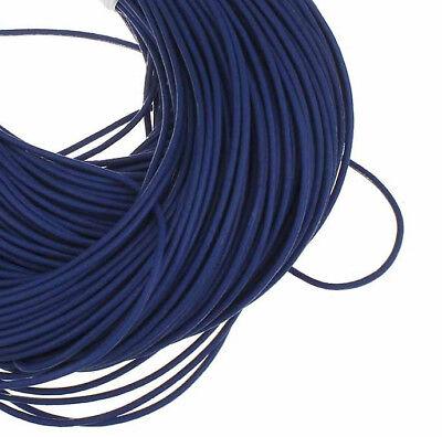 5m Lederband 2mm Blau Lederschnur Schmuck Basteln Drähte Fäden Bänder BEST C154 2