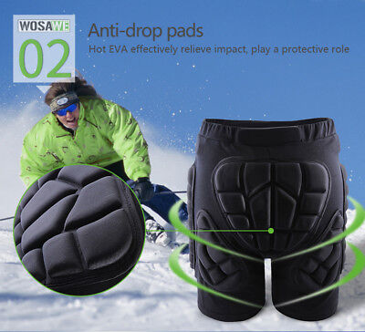 Comfy Men's Padded Skiing Snowboard Hip Protective Pants Shorts Protector Gear