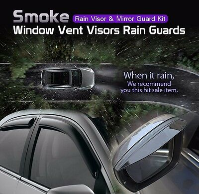 Smoke Window Vent Visors Rain Guard Out Channel Tape On for Kia Sportage 2017-19