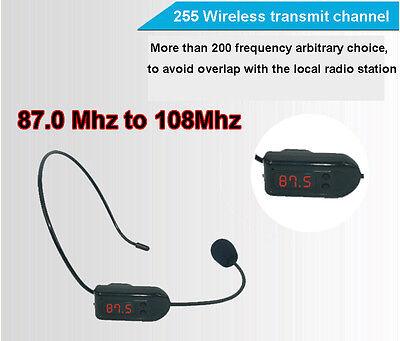 FM Wireless Micphone Headset For Transmitter Loudspeaker Amplifier Voice Booster 7