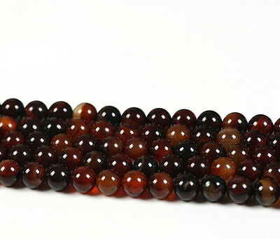 Lots Natural Carnelian Round Gemstone Loose Spacer Beads Jewelry 4/6/8/10/12mm 3