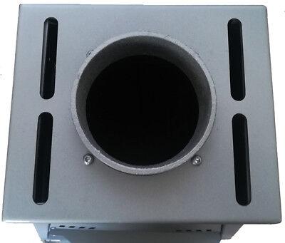 Stufa a legna Gerkand Mod. Krystal-22 /15 kw  in acciaio e ghisa vol.risc.mc.600 4