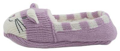 RJM Girls Soft Knitted Cat Slipper Socks with Grippy Soles 8