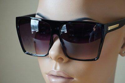 c14ca5c3c6 ... Super Oversized Huge Big Sunglasses Unisex Flat Top Square Frame  Fashion Wear 2