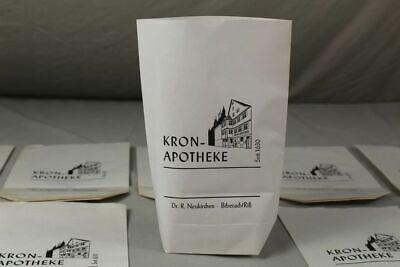 100 x alte Papiertüte / Verkaufstüte - Kron Apotheke Biberach an der Riß /S17 7