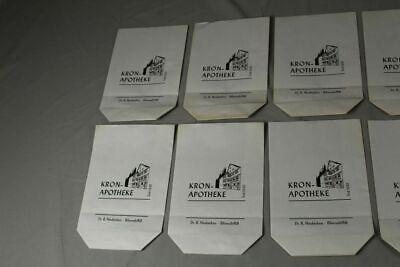 100 x alte Papiertüte / Verkaufstüte - Kron Apotheke Biberach an der Riß /S17 4
