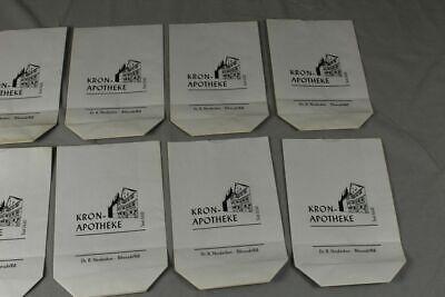 100 x alte Papiertüte / Verkaufstüte - Kron Apotheke Biberach an der Riß /S17 5