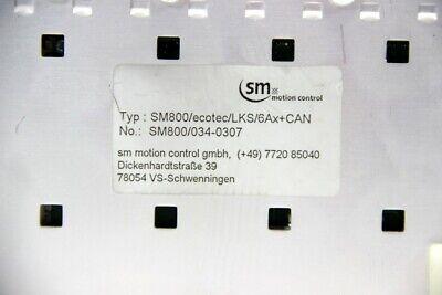 SM motion control - SM 800 - CNC- SPS-Steuerung - SM800/ecotec/LKS/6Ax+CAN 5