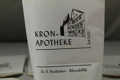 100 x alte Papiertüte / Verkaufstüte - Kron Apotheke Biberach an der Riß /S17 9
