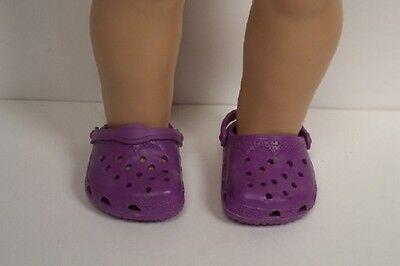 b006e1690ccf1b ... PURPLE (Plum) Kroc Duc Sandal Clogs Doll Shoes For 18